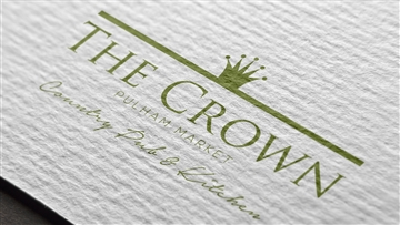 The Crown at Pulham Market logo design